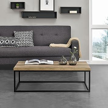 En Casa Table Basse Moderne Plateau Mdf Pieds De Table En Epingle A Cheveux Bois 110cm X 65cm X 35cm