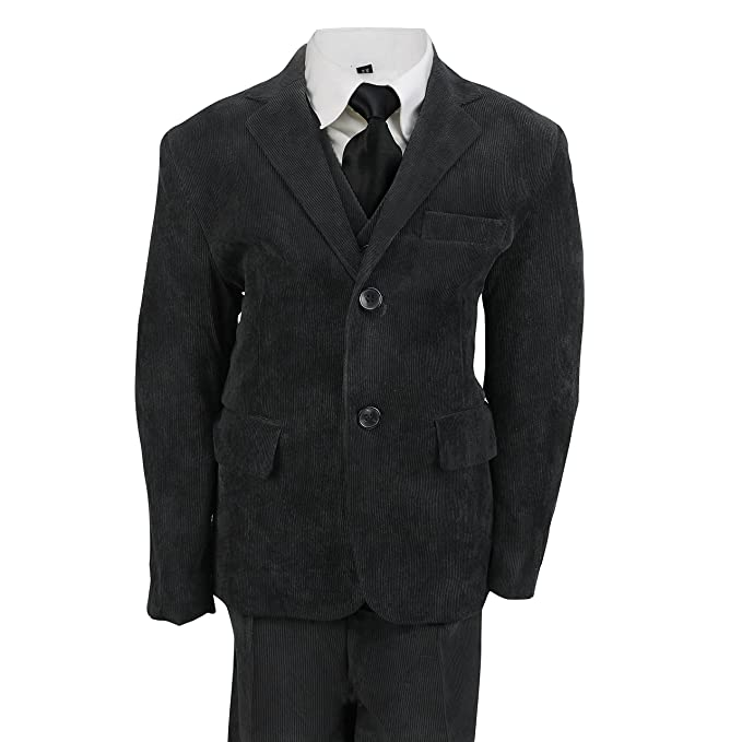 Vintage Style Children's Clothing: Girls, Boys, Baby, Toddler Kids Vintage Corduroy 3 Piece Suit in Cream Black Beige Page Boy Wedding Party Age 2 - 12 Year £28.99 AT vintagedancer.com
