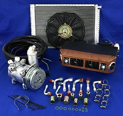 A/C KIT Universal Under Dash Evaporator Compressor KIT AIR Conditioner  432-W 12V W/Electrical Harness