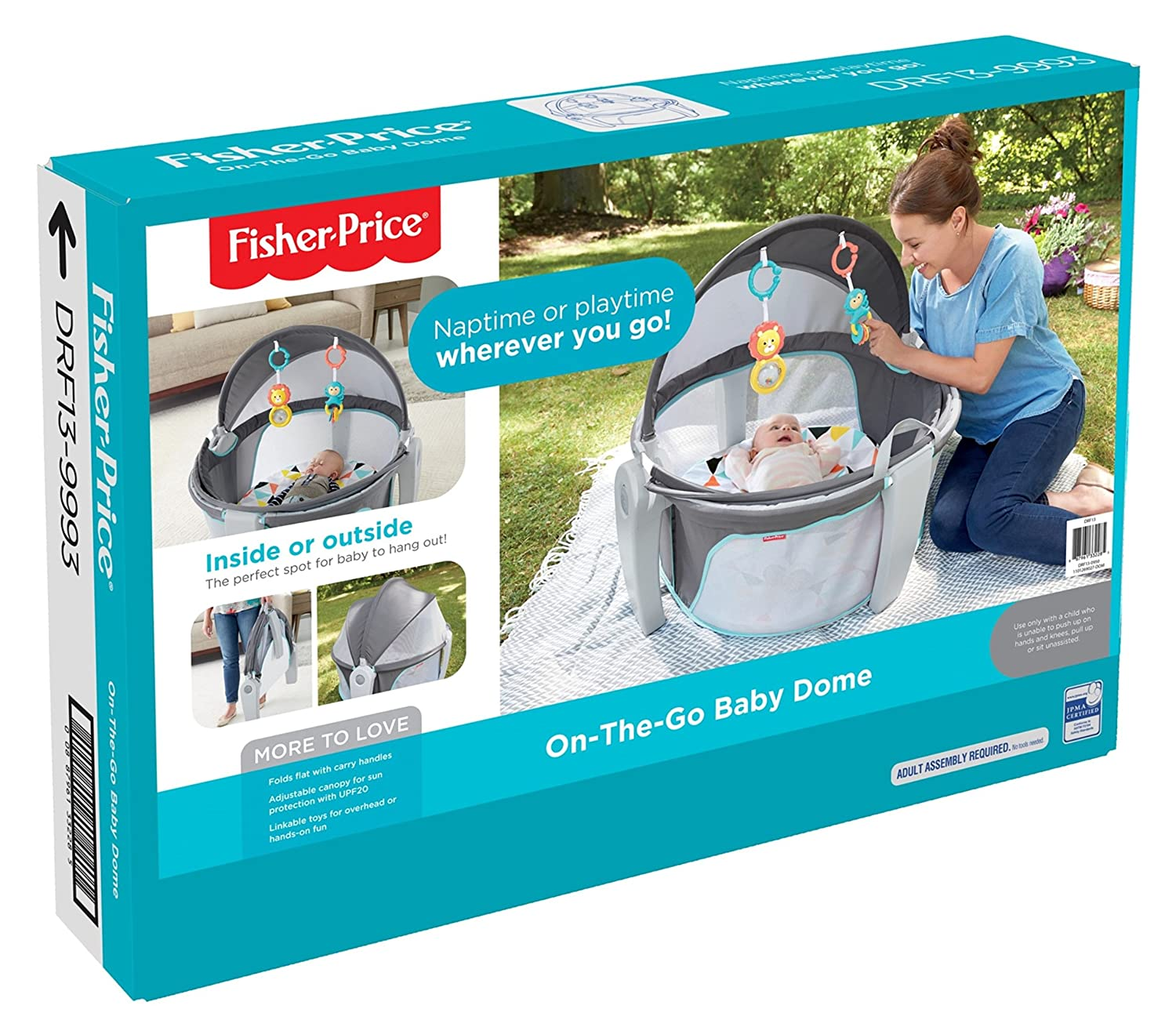 Fisher-Price On-The-Go Baby Dome Gray and White