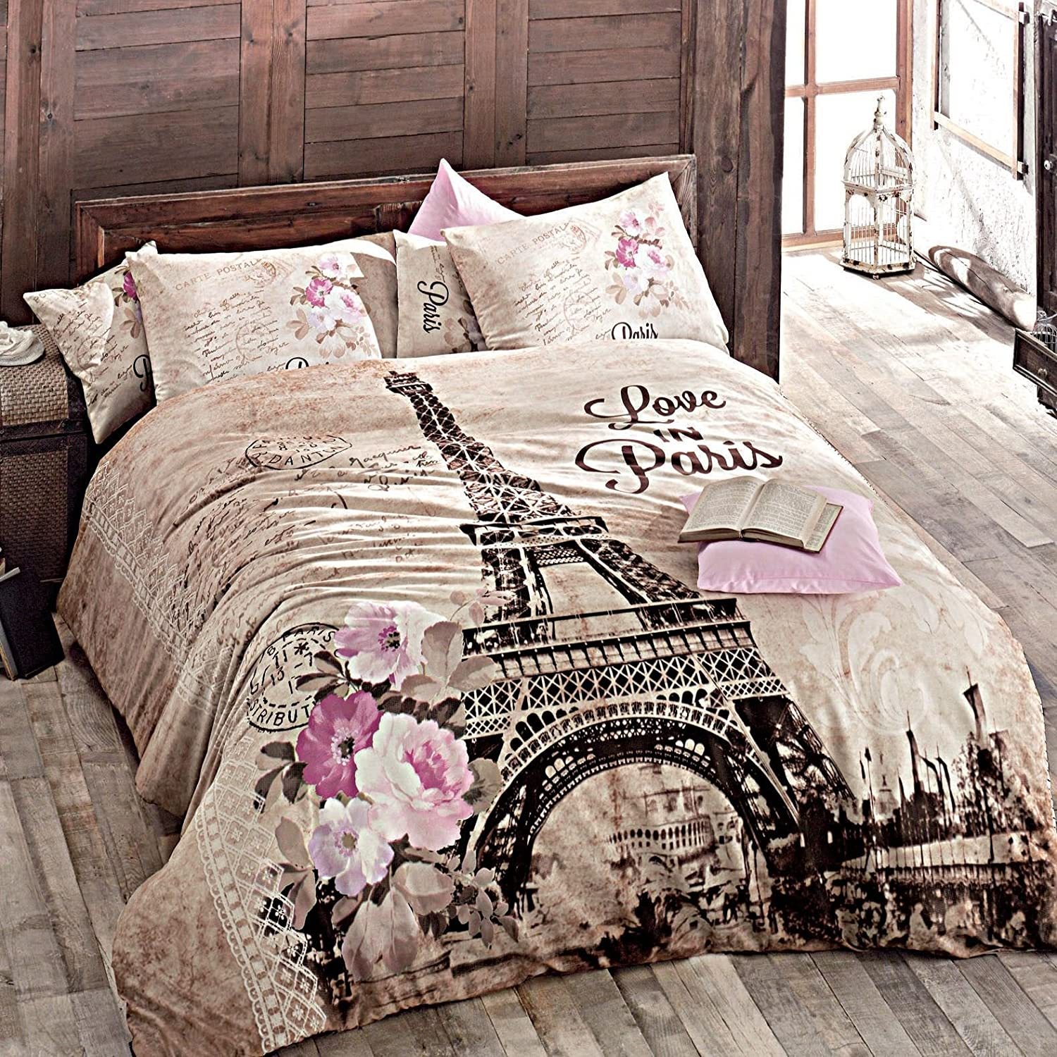 Paris Home 100% Cotton 5pcs Full Size Comforter Set