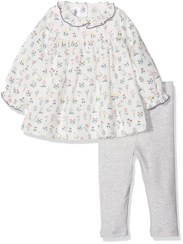 Petit Bateau Robe ML + Legging, Bébé Fille 27008