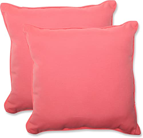 Pillow Perfect Outdoor Fresco Melon Throw Pillow, 18.5-Inch, Set of 2,Pink