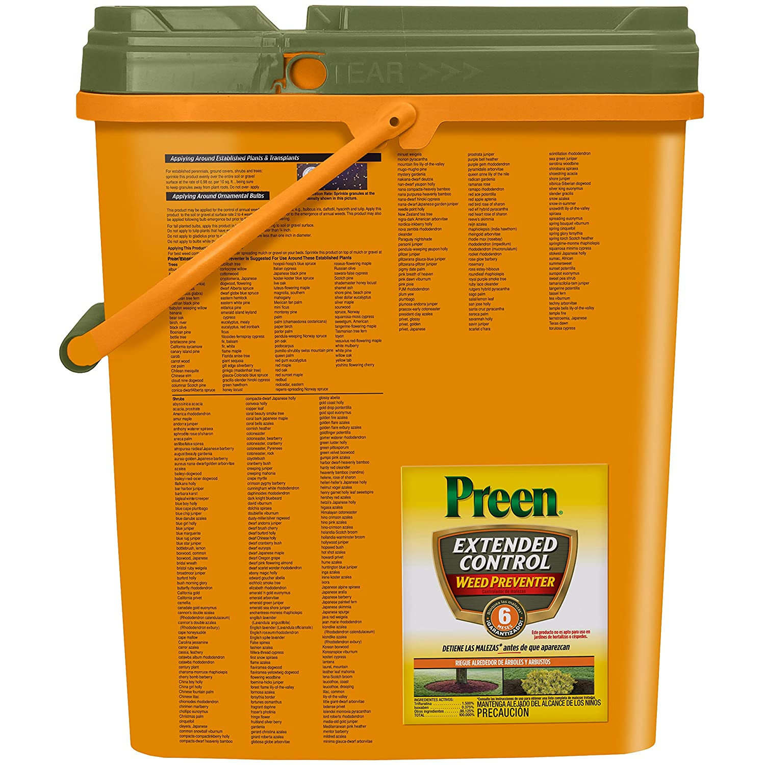 Amazon.com : Preen Extended Control Weed Preventer, 13.75 lb pail covers 2, 245 sq ft : Garden & Outdoor