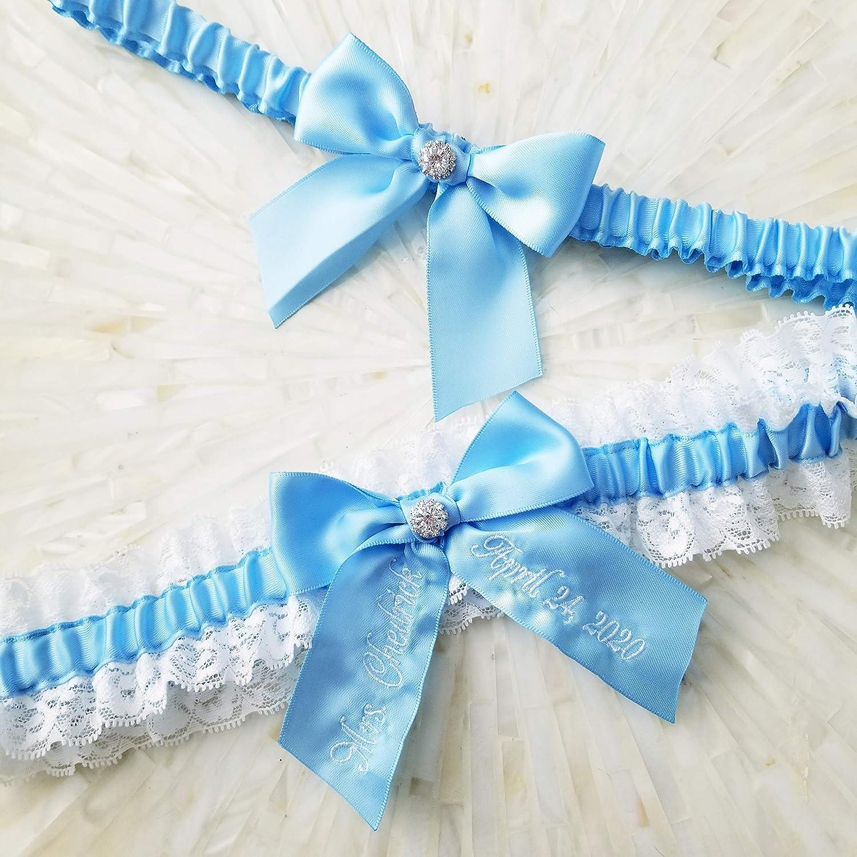 Something Blue Lace Garter Light Blue Wedding Garter Bridal Garters Blue Wedding Garter- Style: G154lace