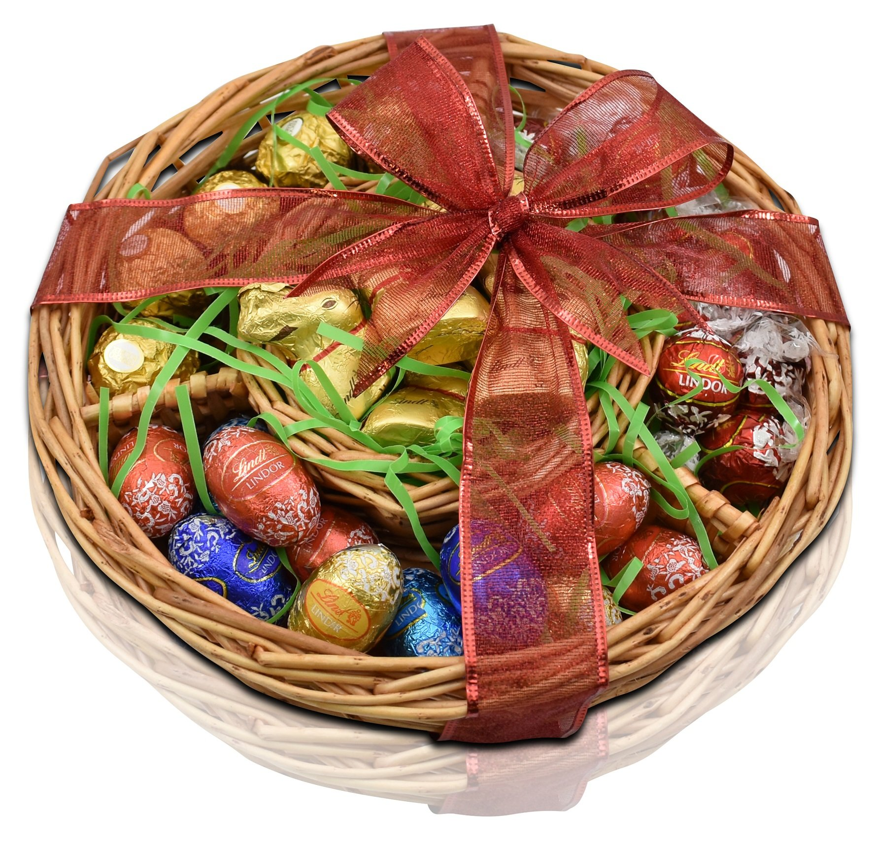 Amazon deluxe easter gift basket gourmet chocolate gifts gift universe lindt and ferrero rocher gift basket lindt gold bunnies lindor milk negle Image collections