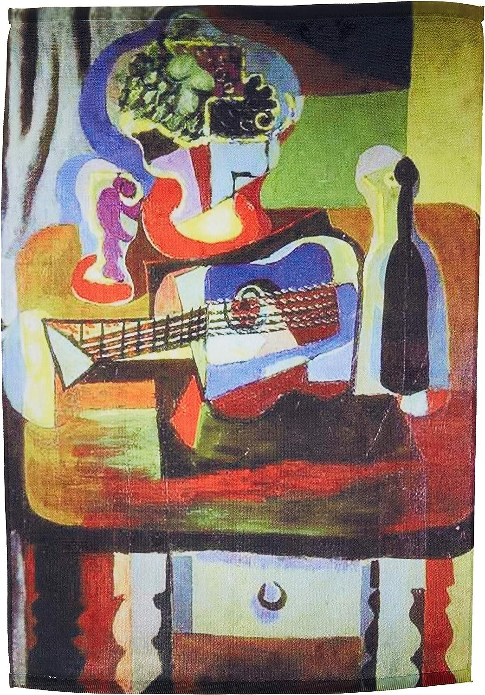 3dRose Picasso Cuenco de Pintura de Frutas N Toalla de Guitarra ...