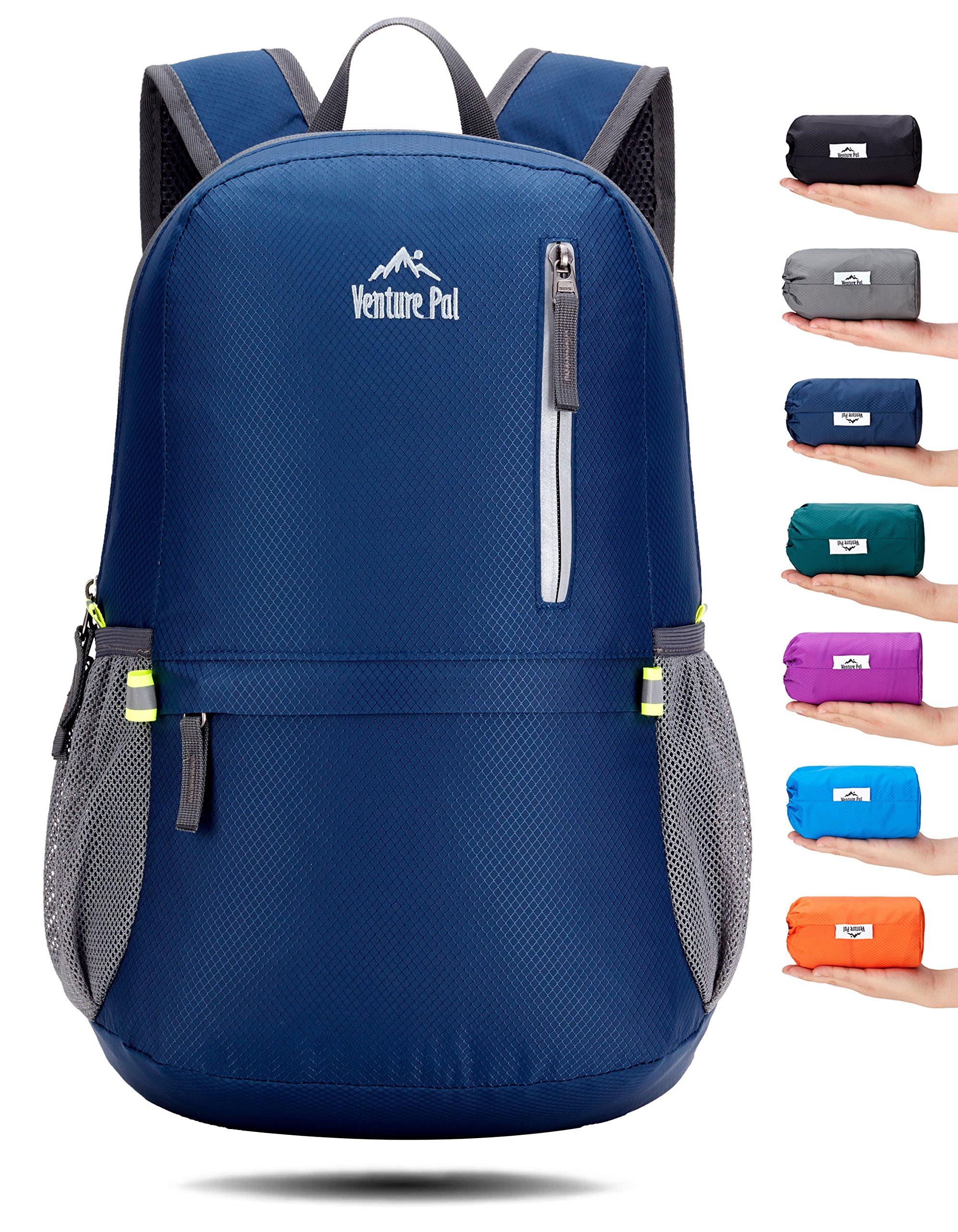Venture Pal 25L Travel Backpack - Durable Packable Lightweight Small Backpack Women Men (Navy)