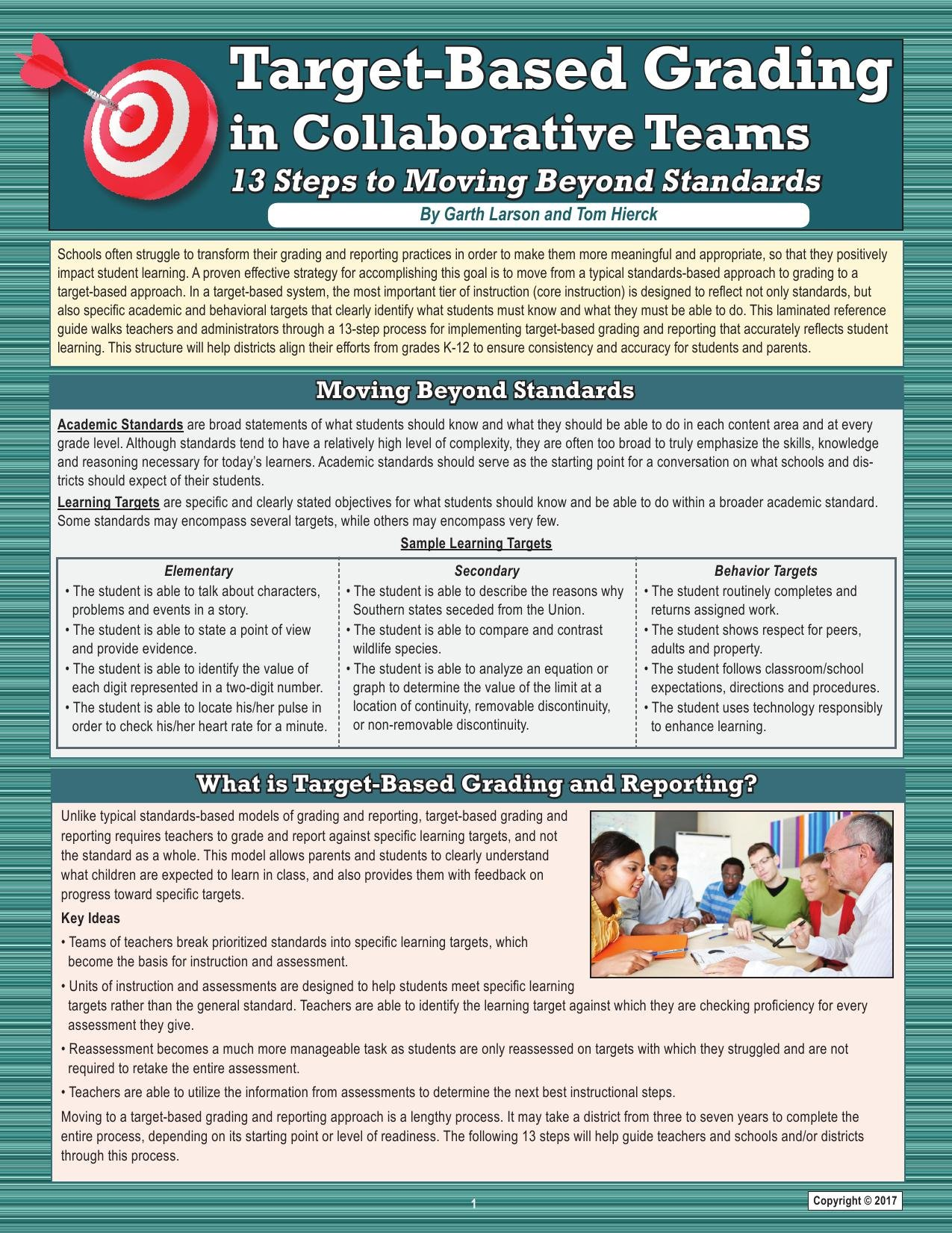 Target-Based Grading in Collaborative Teams: 13 Steps to