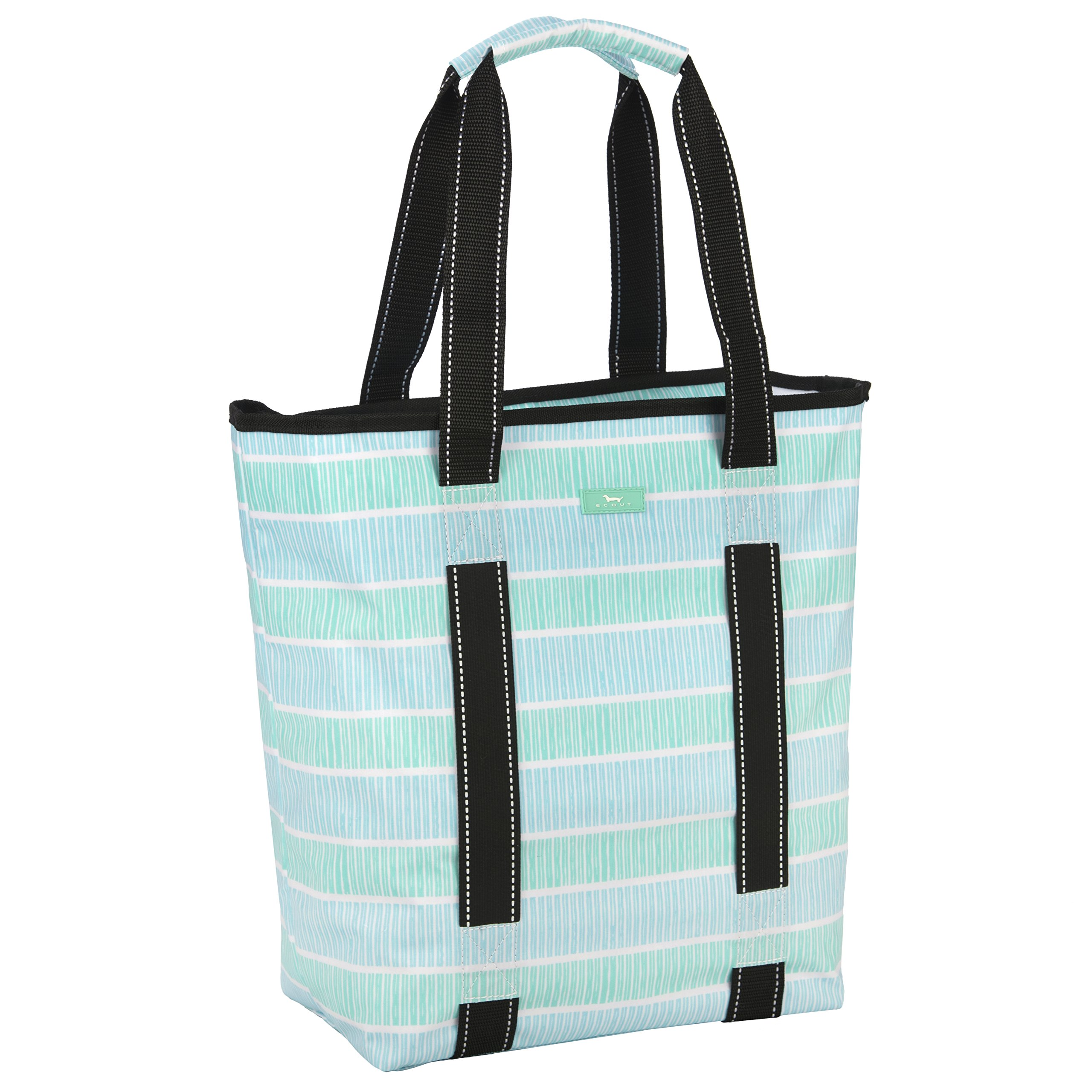 SCOUT Fit Kit Gym Tote Bag, Elastic Band Fits Yoga Mat or Towel, Water Resistant, Zips Closed, Shallow End