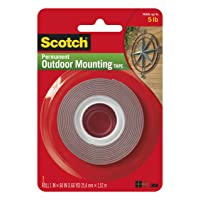Deals on Scotch 3M 4011 Exterior Mounting Tape, 1 in x 60 in