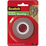 Heavy-Duty Exterior Mounting Tape, Holds 5 lb., 1 in x 60 in Roll