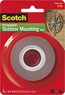 product image for Heavy-Duty Exterior Mounting Tape, Holds 5 lb., 1 in x 60 in Roll