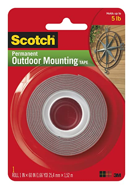 amazon com 3m scotch 4011 exterior mounting tape 1 in x 60 in