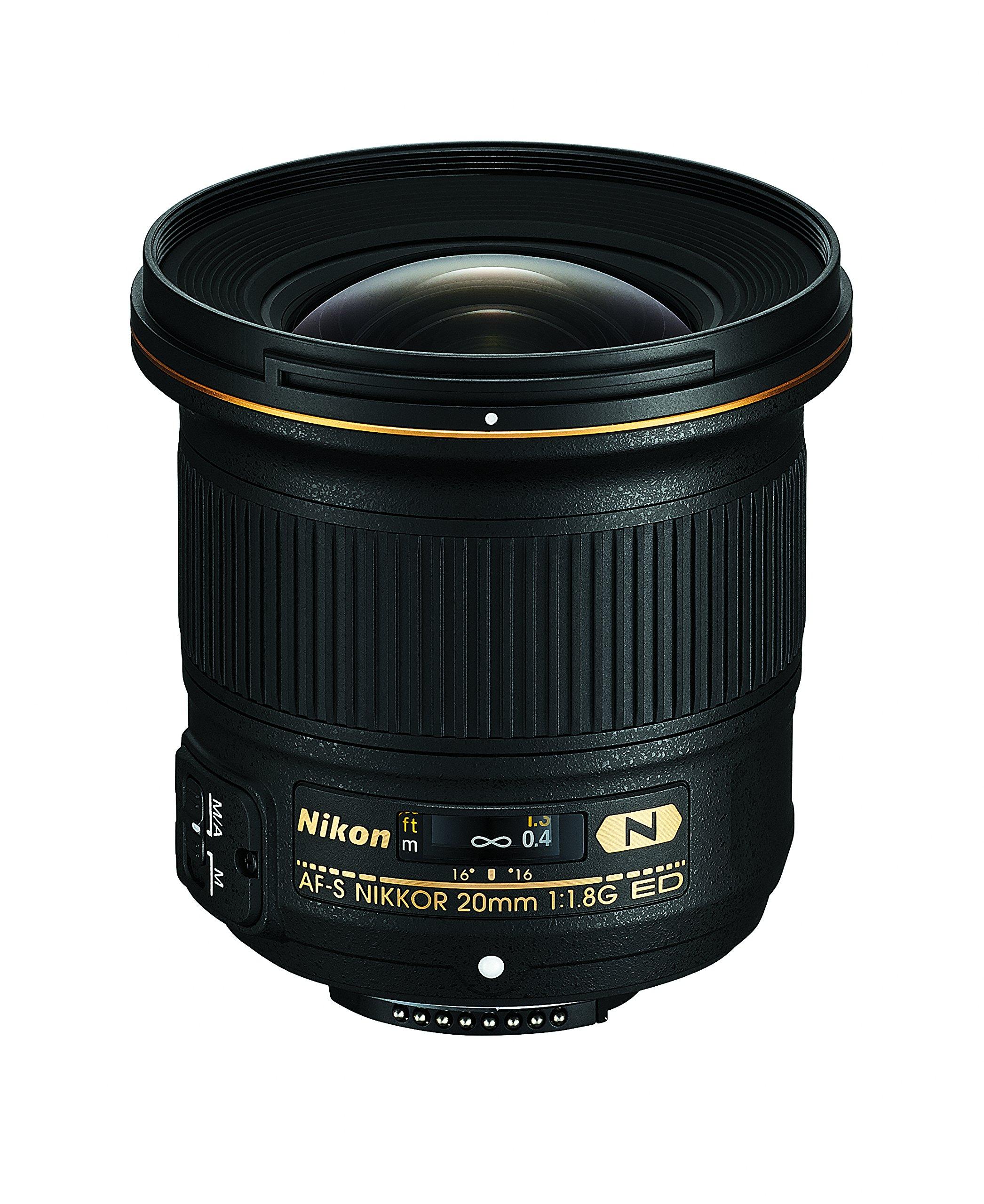 Nikon AF-S FX NIKKOR 20mm f/1.8G ED Fixed Lens with Auto Focus for Nikon DSLR Cameras by Nikon