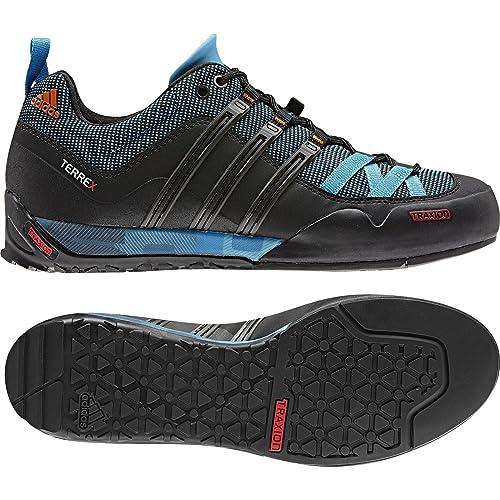 16247157a9bfa Adidas Outdoor Terrex Solo Approach Shoe - Men s Sharp Blue High  Energy Black