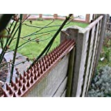 Cat Repeller Fence and wall spikes – strip of 8 (13ft) Brown