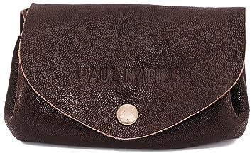 3681e1815 LE GUSTAVE INDUS cartera de cuero, monedero estilo vintage marrón oscuro  PAUL MARIUS Vintage &