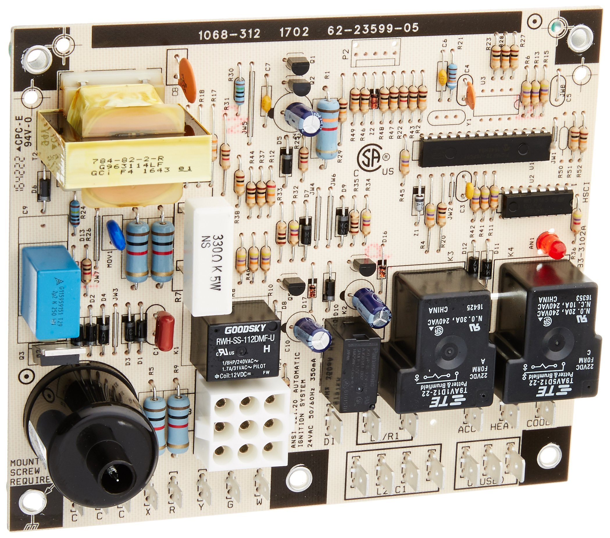 Protech 62-23599-05 Integrated Furnace Control Board