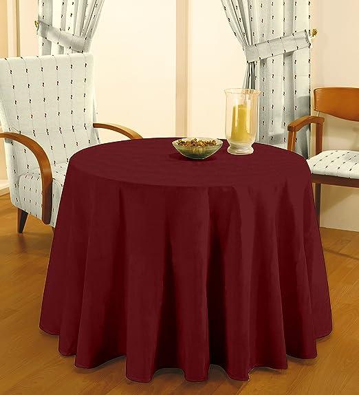 Cardenal - Falda de Mesa Camilla 90 Lisa Granate: Amazon.es: Hogar