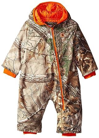 decb424dd Amazon.com  Carhartt Baby Boys  Camo Snowsuit  Clothing