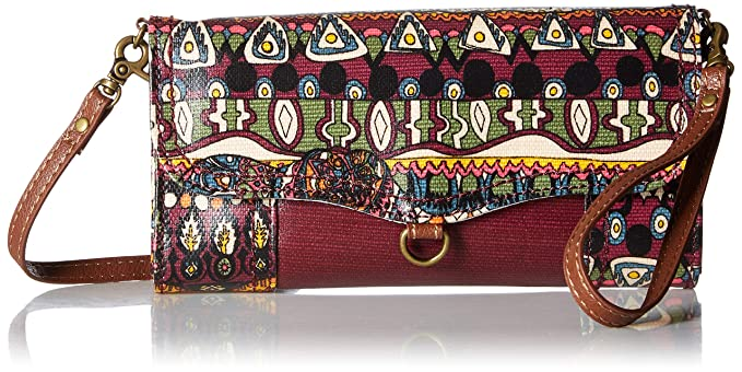 Sakroots Women s Thea Phone Wallet Crossbody Mulberry One World One Size 993cc111f7287