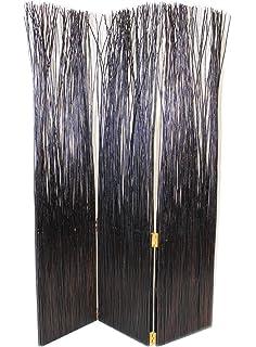 ehemco folding 3panel willow screenroom divider in dark cherry