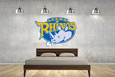 Leeds rhinos rugby league badge childrens 70cm wall stickers wall art transfers decals customise4u