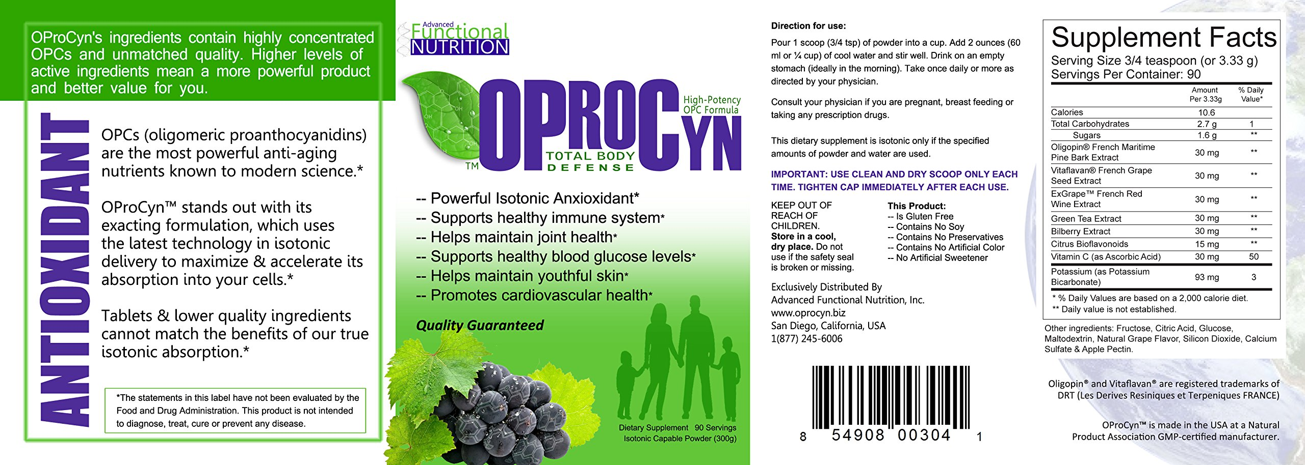 OProCyn OPC, Save BIG Compared to Isotonix OPC-3