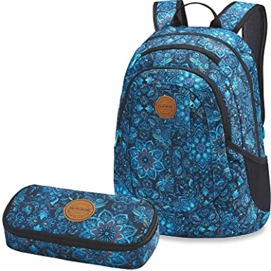 7b5ae138a8d1d Dakine 2er SET Rucksack Schulrucksack Laptop 20l GARDEN + SCHOOL CASE  Mäppchen Blue Magnolia