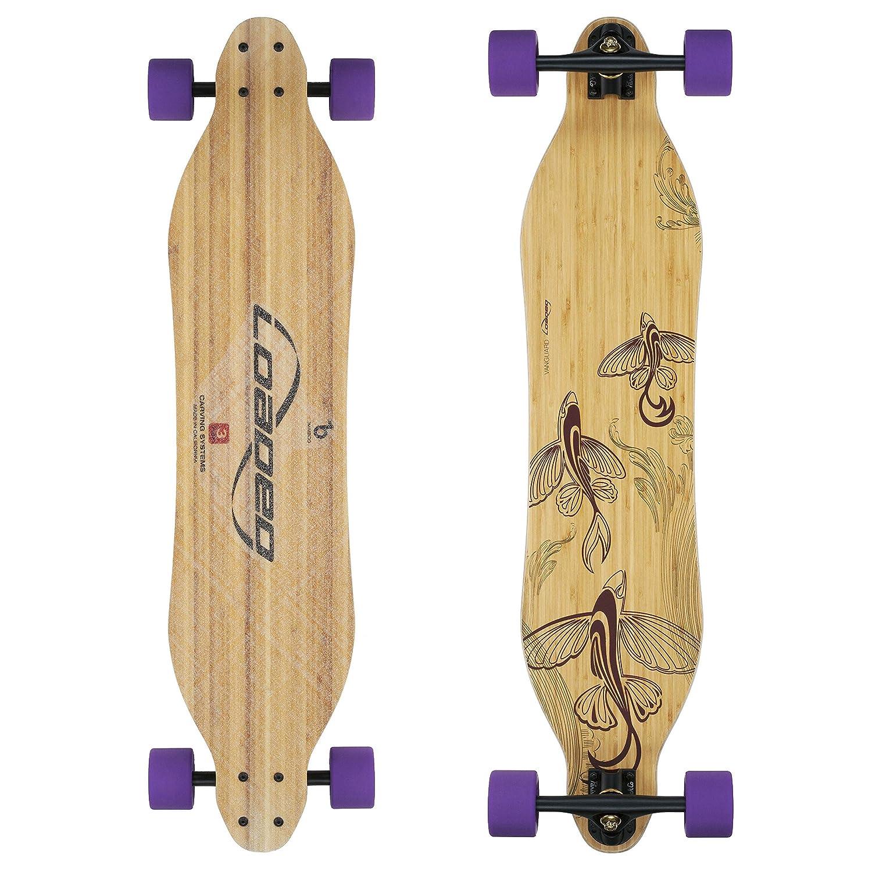 loaded bamboo 42 longboard skateboard complete flex 1 by loaded