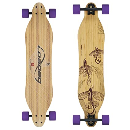ff3c7880117d Loaded Boards Vanguard Bamboo Longboard Skateboard Complete (83a Durian,  Flex 1)