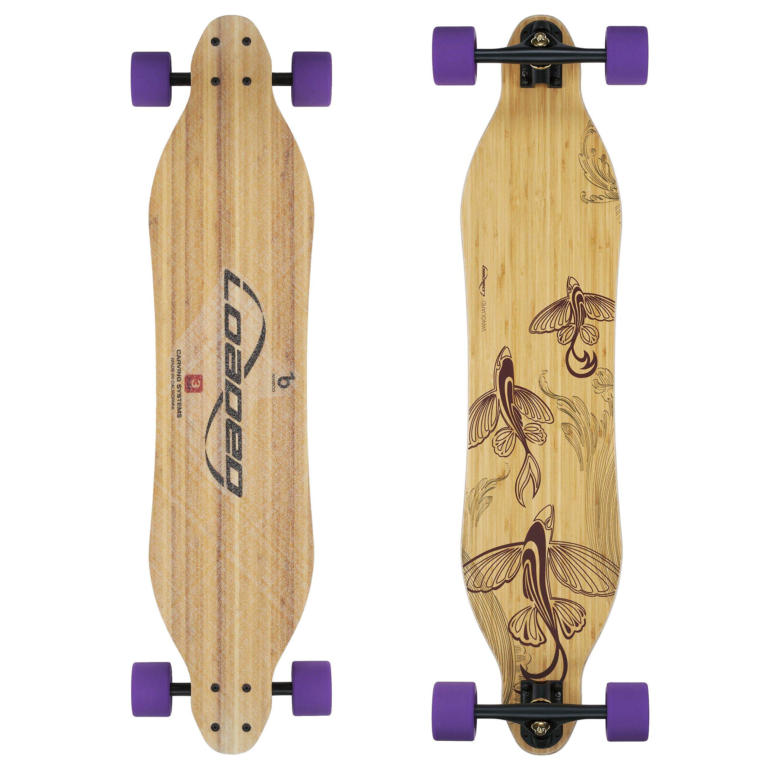 Loaded Boards Vanguard Bamboo Longboard Skateboard Complete (83a Durian, Flex 3)