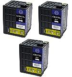ZAZ 互換インク ICBK73L 増量版 ブラック 3個セット ICチップ付 EPSON互換 インクタンク 対応機種: PX-K150 ZAZブランド FFPパッケージ(73-3)
