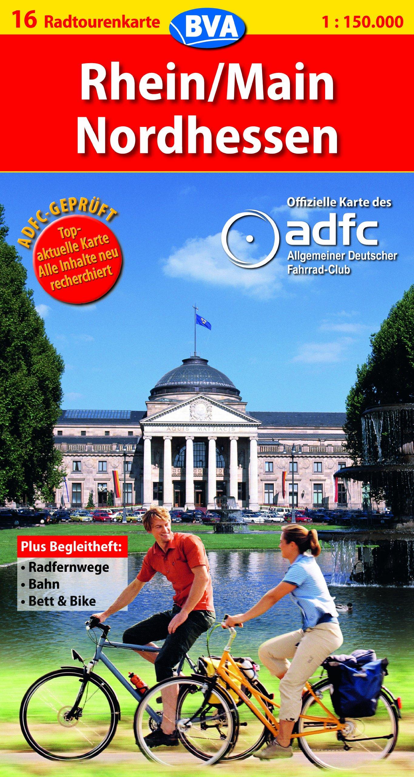 ADFC Radtourenkarten : Rhein/Main/Nordhessen (Englisch) Taschenbuch – 25. Juni 2007 BVA Bielefelder Verlag 3870733721 MAK_GD_9783870733728 Stadtpläne