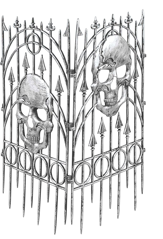amazon com forum novelties silver skull fence prop 2 pieces toys