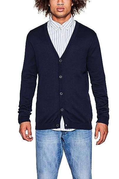 edc by Esprit 097cc2i017, Chaqueta Punto para Hombre, Azul (Navy 400),