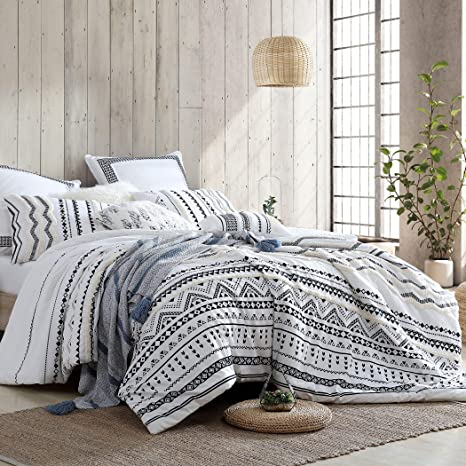 Swift Home 100 Cotton Washed Amis Tufted Chenille 5 Piece Comforter Set Oeko Tex Certified Ultra Soft And Breathable All Season White Full Queen 88 X 92 Kitchen Dining