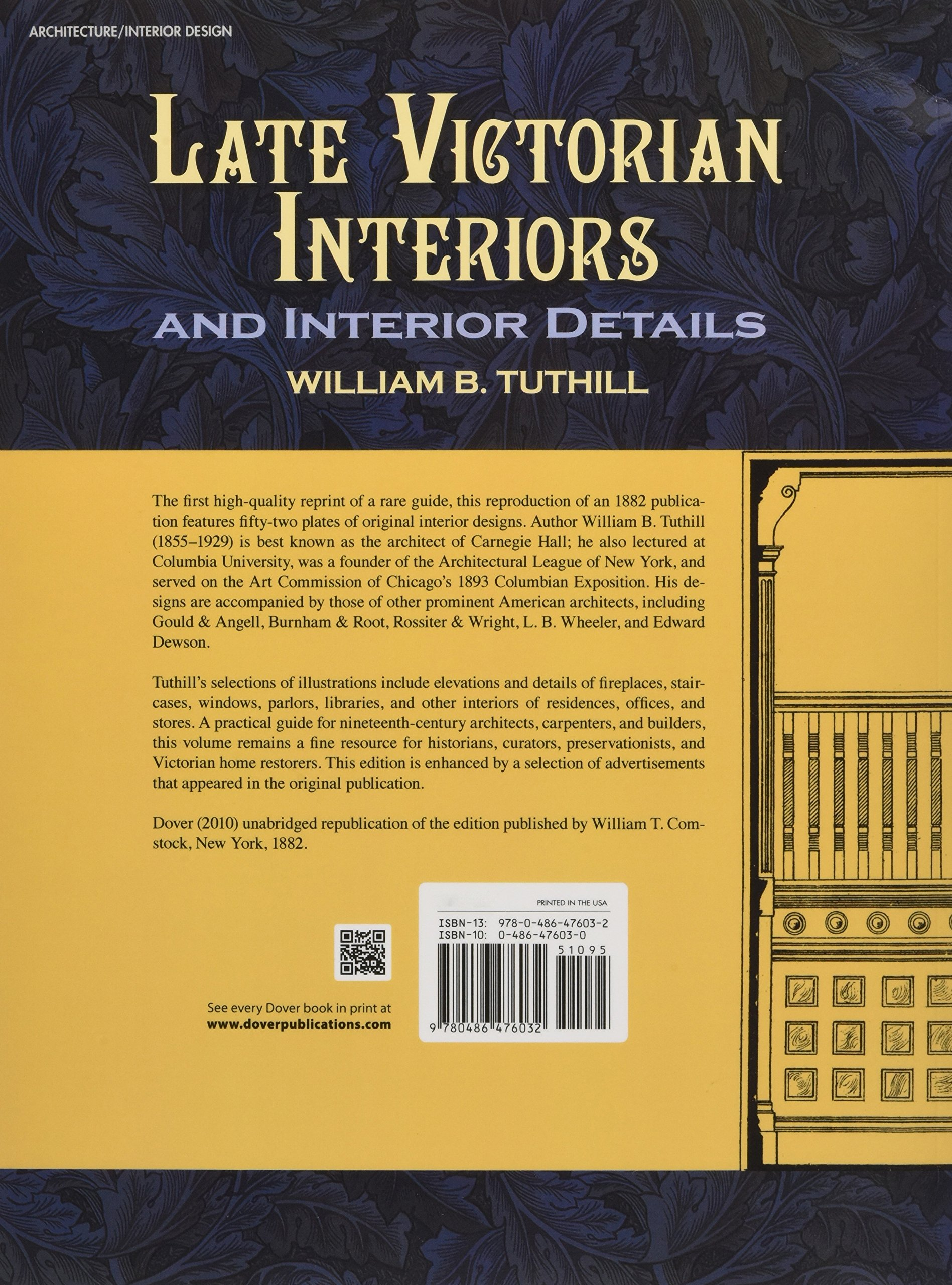 Late Victorian Interiors and Interior Details (Dover Architecture) by Dover Publications (Image #2)