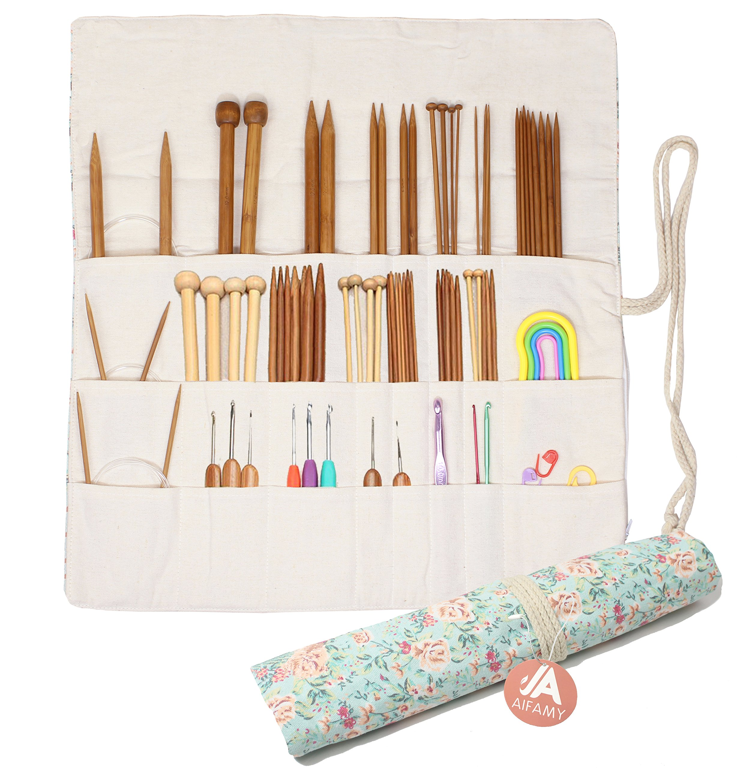 Lemon NO Accessories Included Pacmaxi Knitting Needles Organizer Foldable Knitting Needles Storage Case Up to 14 Inch Rolling Knitting Needles Holder for Straight and Circular Knitting Needles