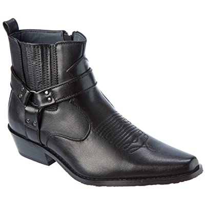 Alberto Fellini Western Style Boots New Upgrade PU-Leather Cowboy Black Size 13 | Boots