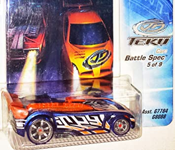 Transportador de carrinhos Hot Wheels Acceleracers Teku #5 de 9 Azul Battle Spec
