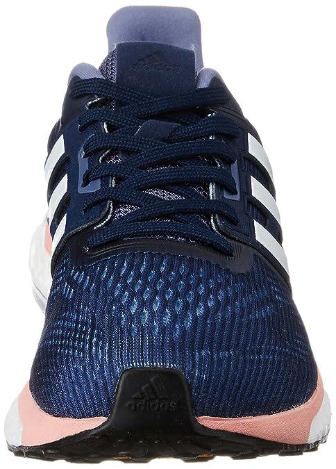 adidas Supernova Glide 9, Chaussures de Running Entrainement Femme, Gris (Midnight Grey/FTWR White/Still Breeze), 36 EU