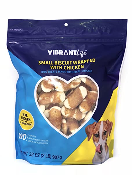 Amazon.com : Vibrant Life Small Biscuit Wrapped With Chicken (32oz) Bag : Pet Supplies