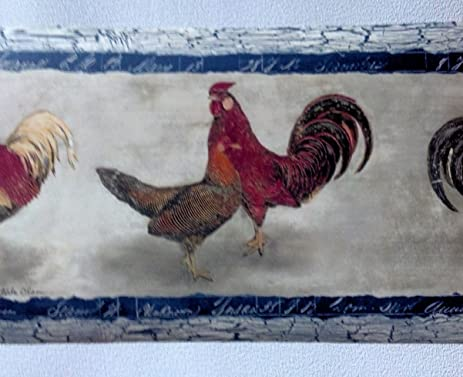 Roosters Wallpaper Border