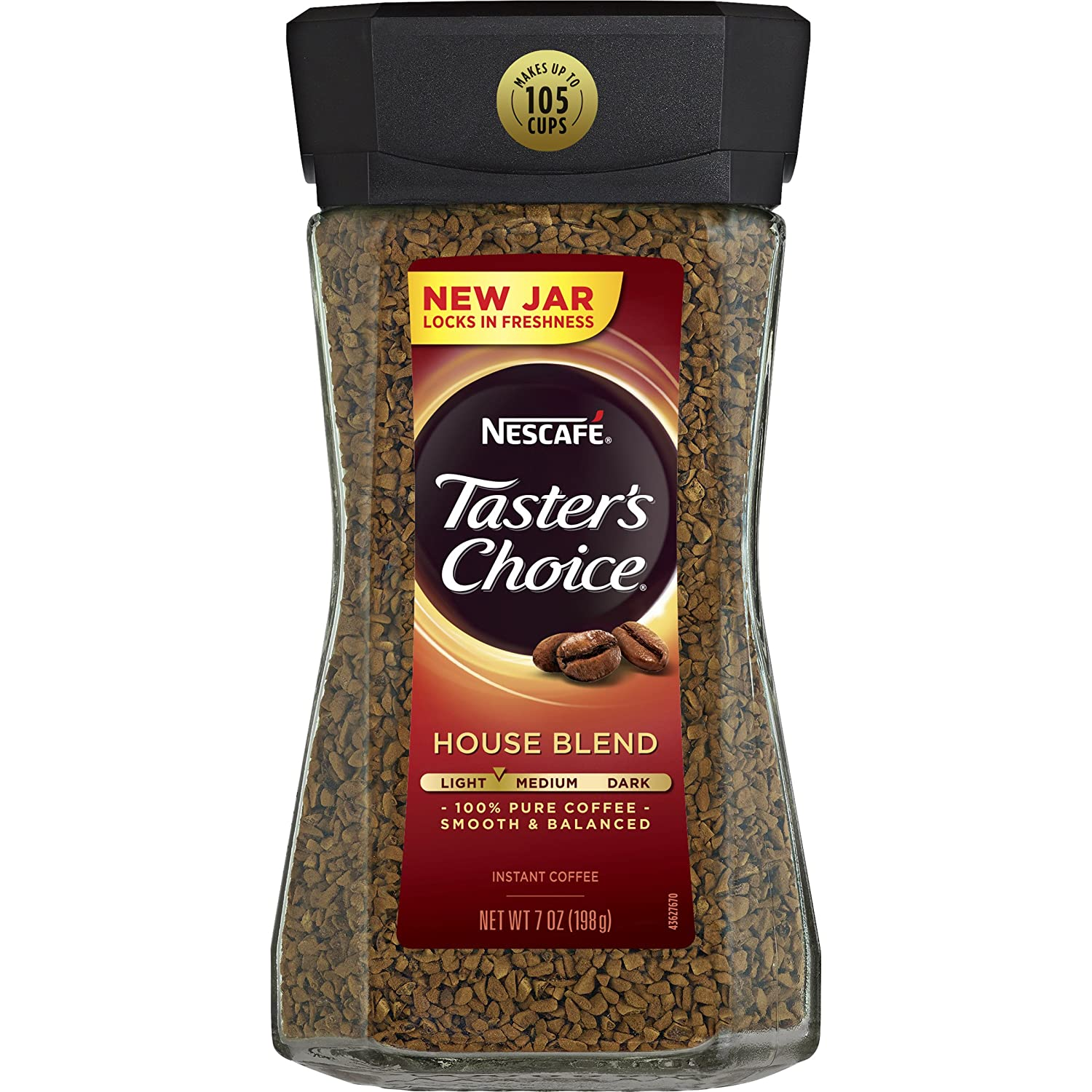 Nescafe Taster's Choice Instant Coffee, House Blend, 7 Ounce