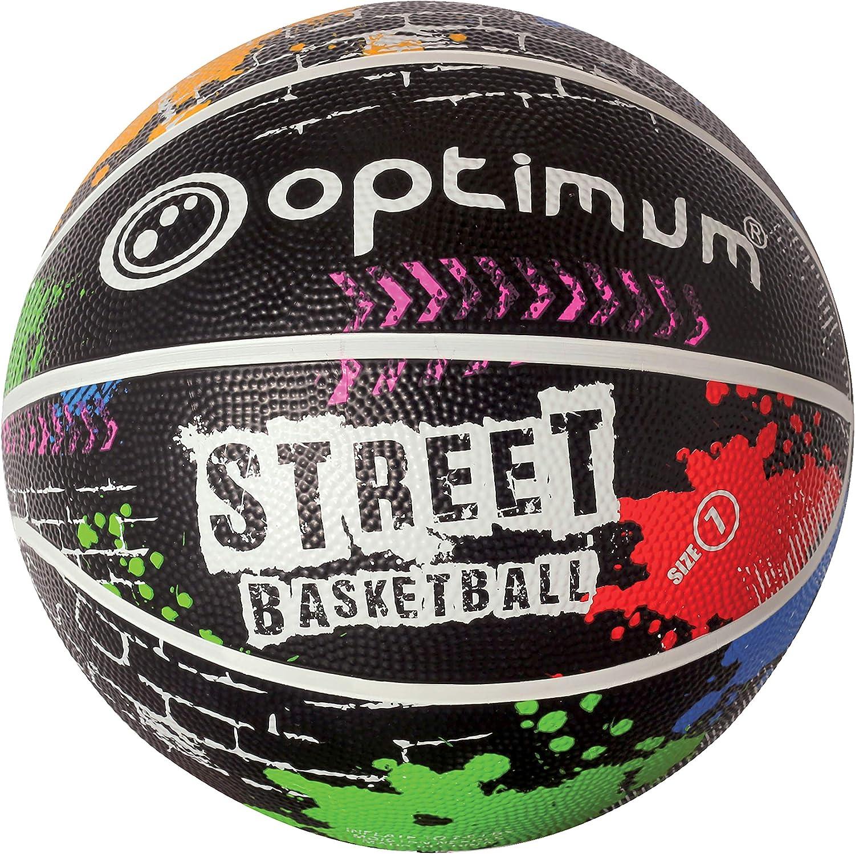 OPTIMUM Street-Balón de Baloncesto, Unisex-Adult, Multi/Colour ...