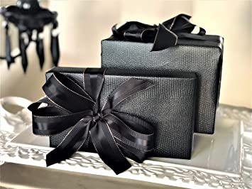 6f47ee20839a Amazon.com  Black Faux Leather Gift Wrap Paper for Large Presents ...