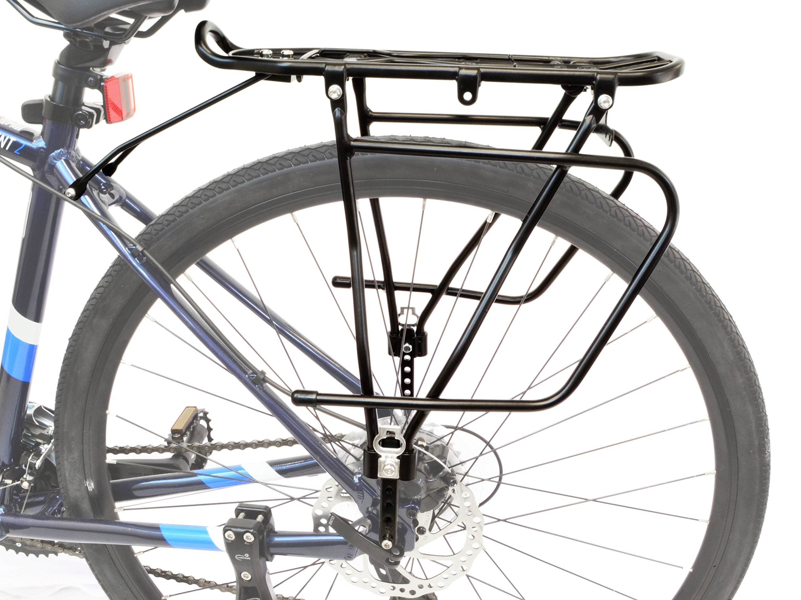 Lumintrail Bicycle Rear Frame Mounted Cargo Rack for Disc Bikes Height Adjustable Commuter Carrier by Lumintrail (Image #4)