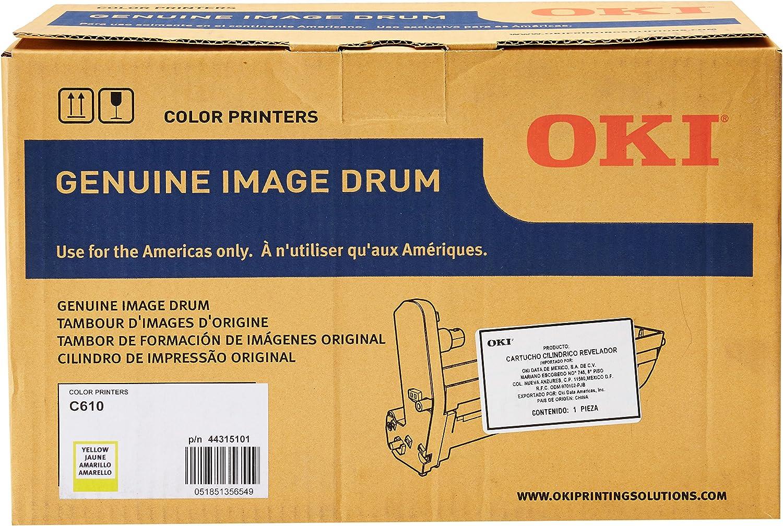 Amazon.com: OKI Yellow image drum, 20000 de papel (44315101 ...